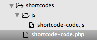 Inti Shortcodes theme structure